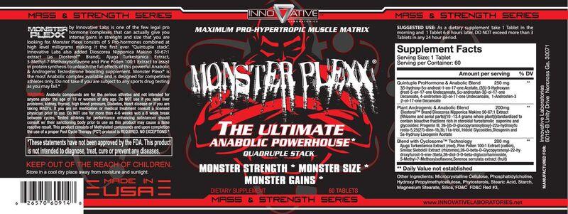 Monster Plexx Supplement Facts
