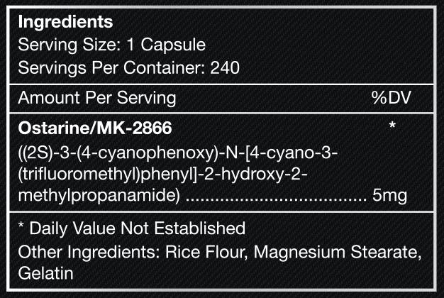 ostar1ne-supplement-label