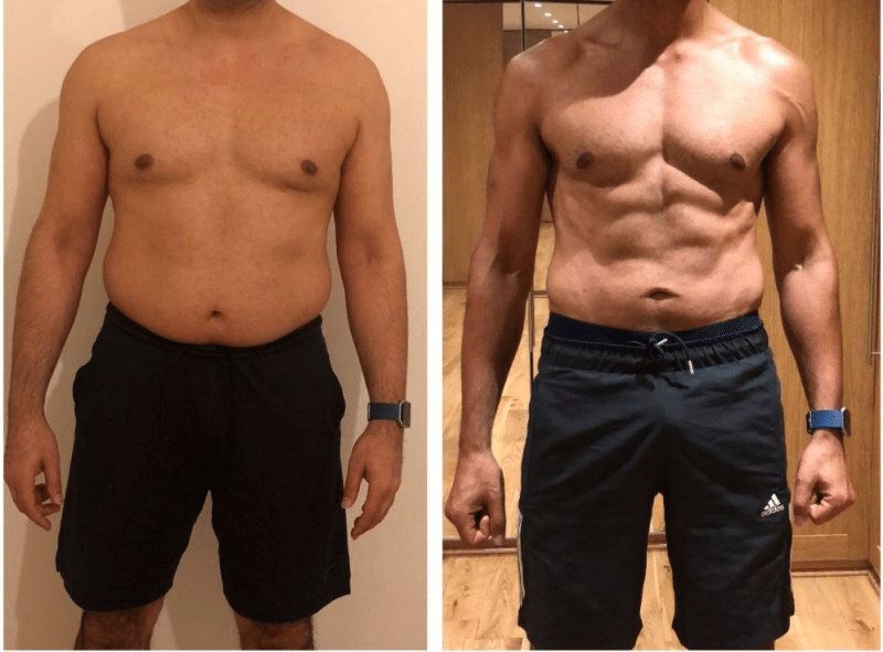 YK11 Before and After 8 weeks